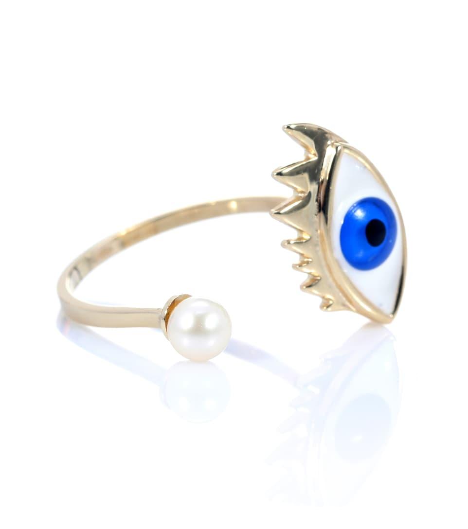 Bague En Or 9 Ct Et Perle Eye Piercing - Delfina Delettrez