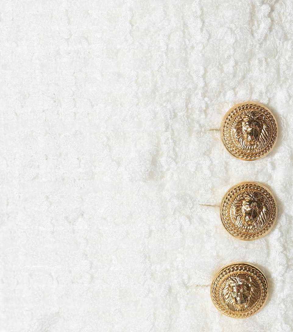 Balmain Tweed-Blazer mit Wollanteil