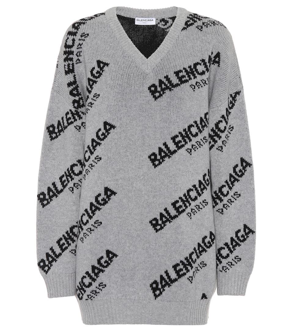 Balenciaga Pullover aus Wolle und Kamelhaar