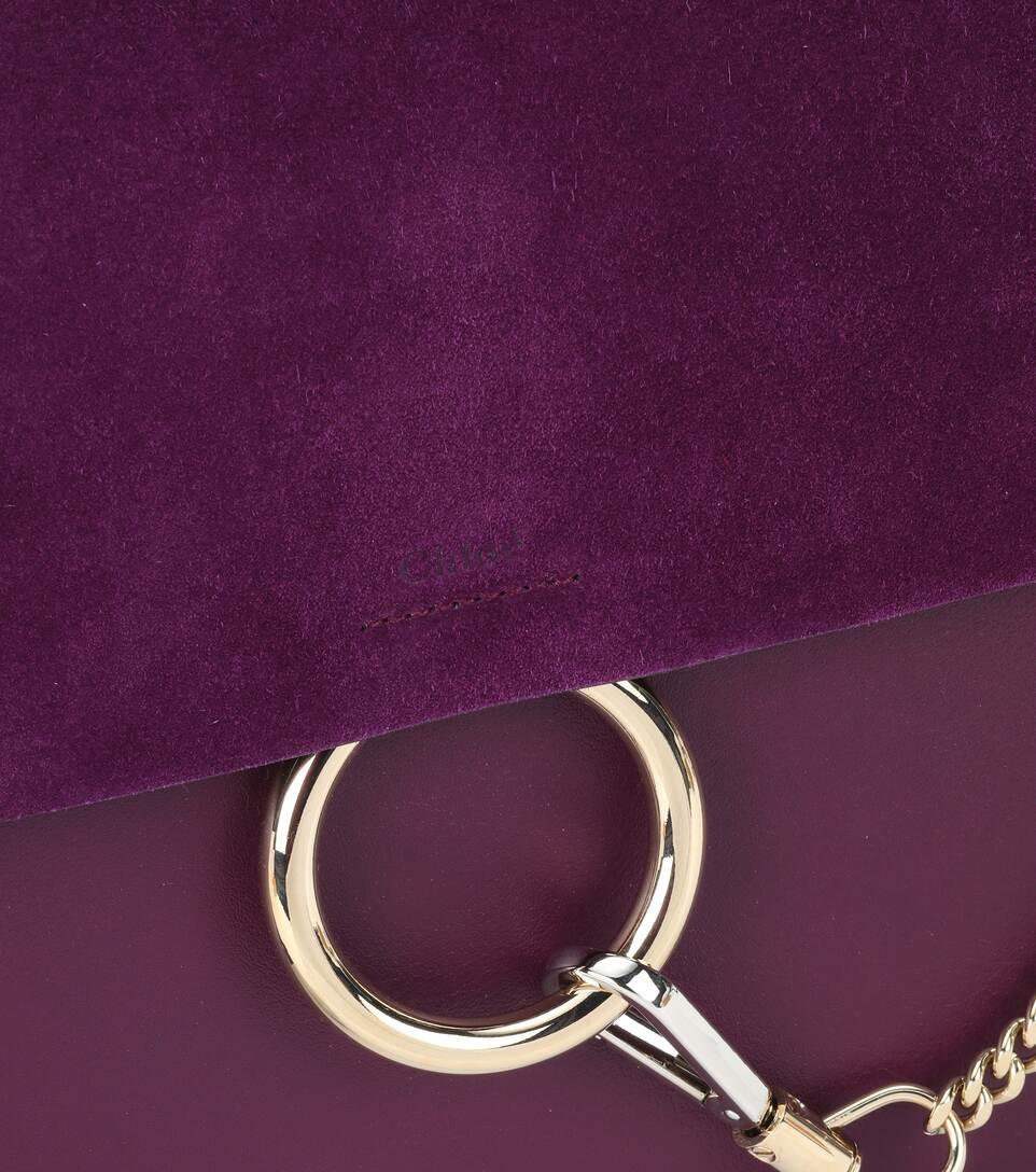Cheap Sale Brand New Unisex Chloé Faye leather shoulder bag Intense Violin Original For Sale ev824EJ3y