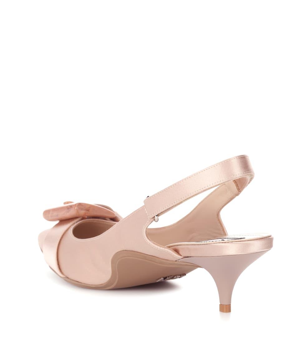 Cheap Best Sale N°21 Satin kitten-heel pumps Cipria Sale Pick A Best Recommend Cheap Online Best Prices mkAUcRHvUz