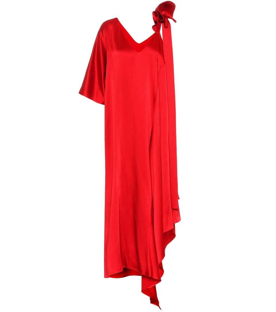 Valentino Asymmetrische Robe aus Duchesse