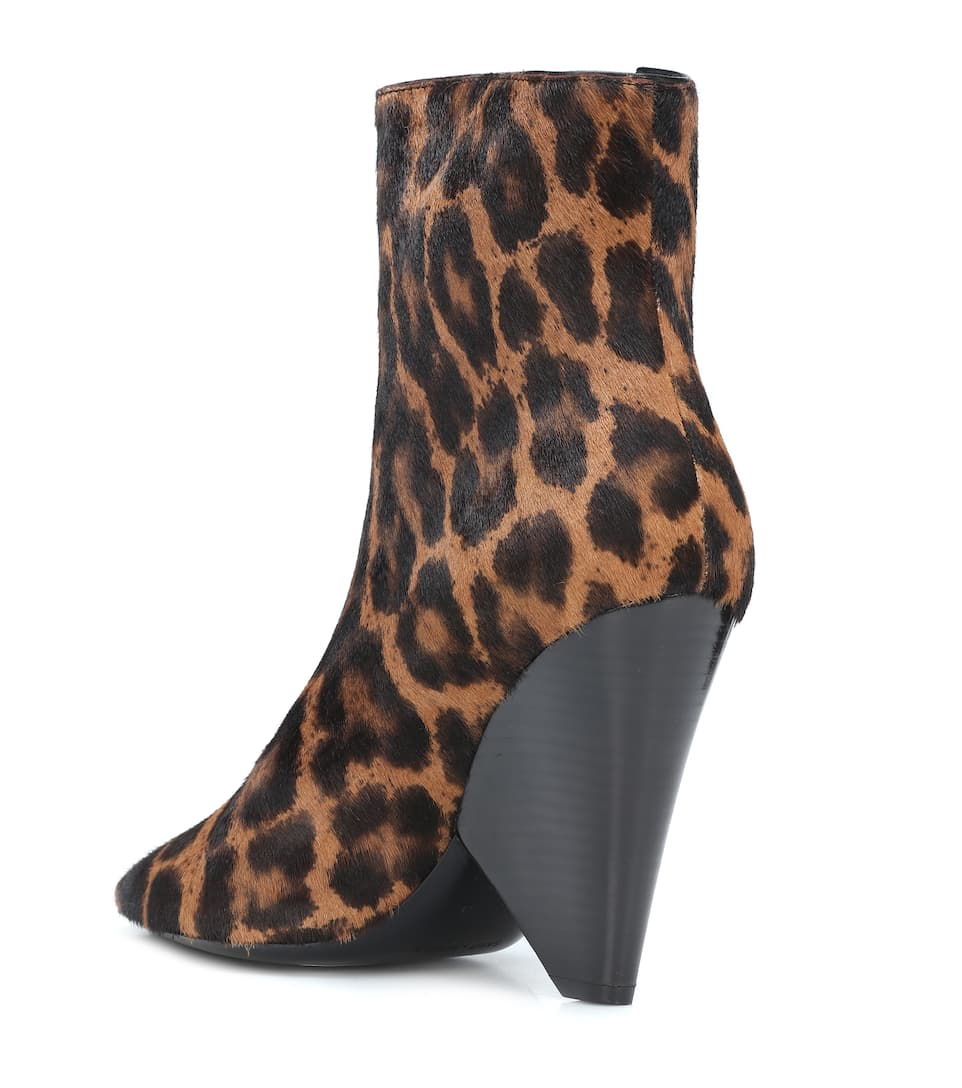 bb784c1d1063 Saint Laurent - Niki Wedge calf hair ankle boots