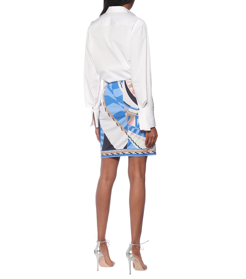 Printed Jersey Pencil Skirt - Emilio Pucci
