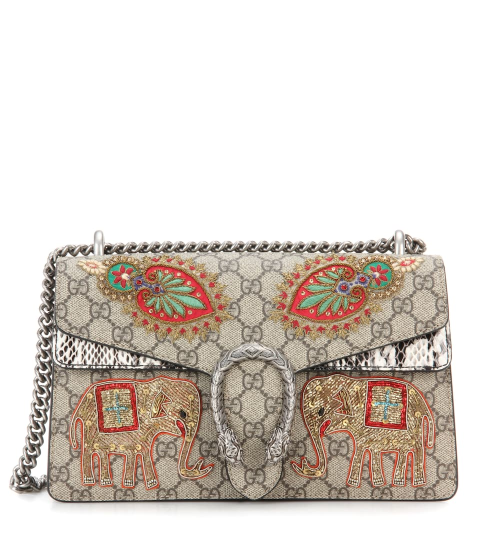 d420878d0f1 Gucci - Dionysus GG Supreme Small coated canvas and suede shoulder bag