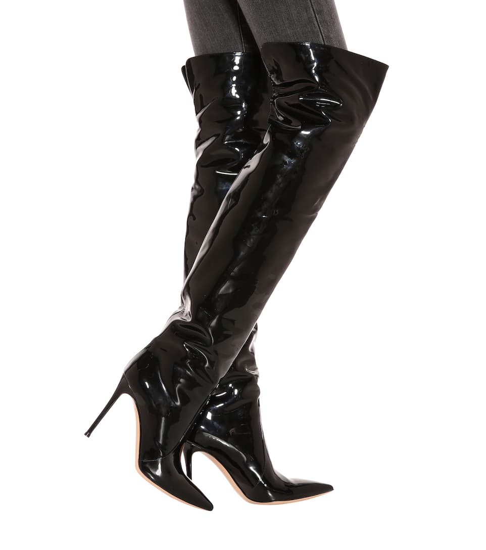 Gianvito Rossi Rennes leather over-the-knee boots