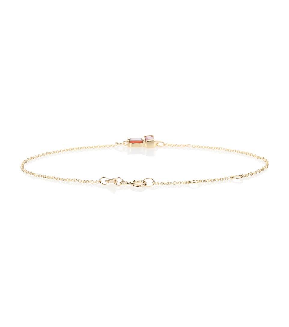 Tu Y Yo 9kt gold bracelet with sapphire and garnet Aliita juaQIDk