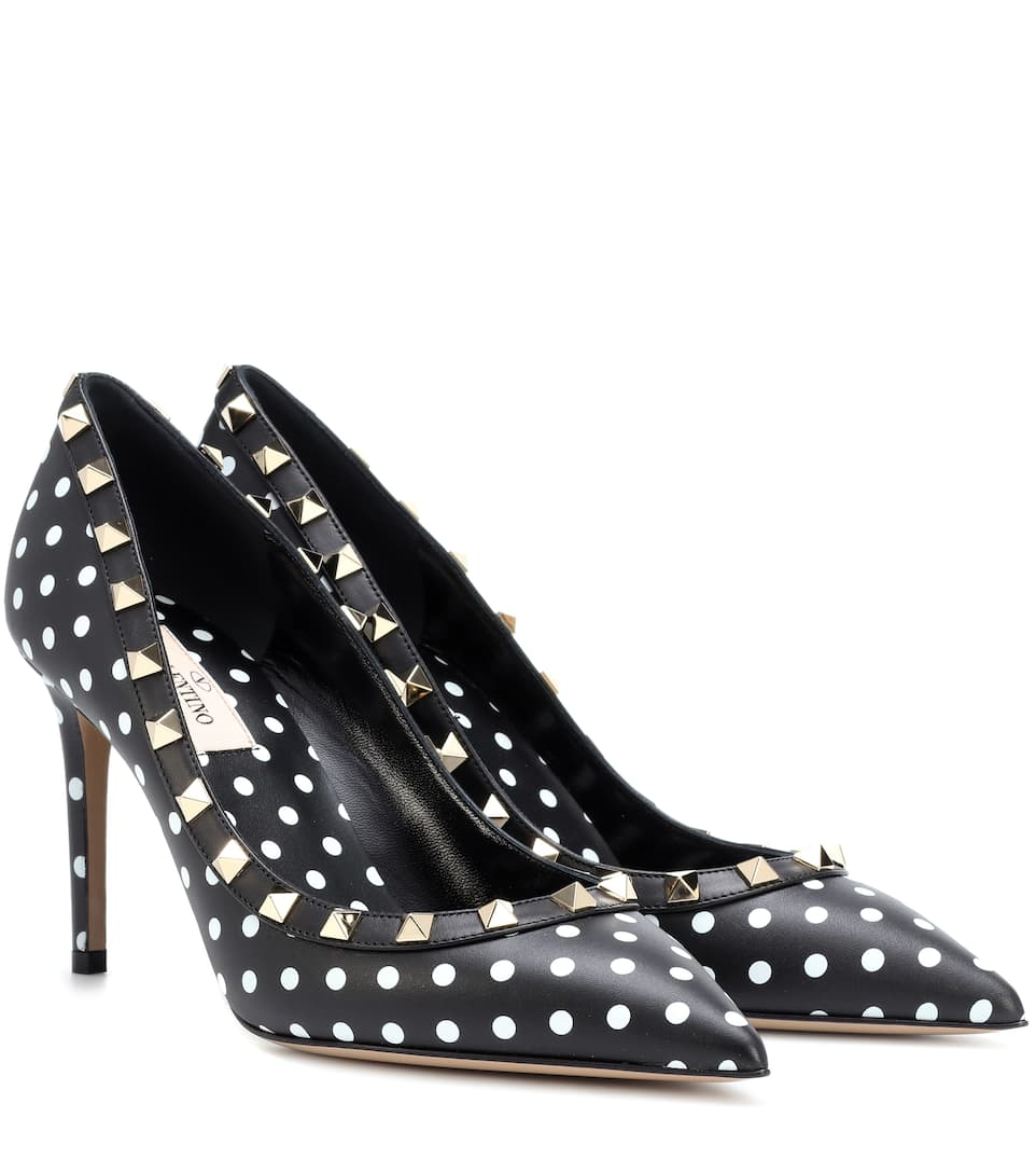Valentino Garavani Rockstud Animation Leather Pumps by Valentino Garavani