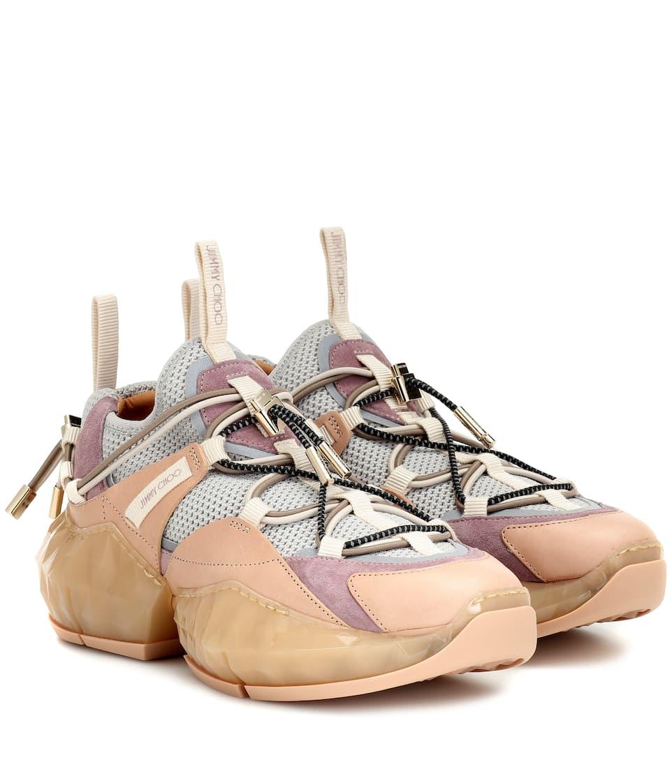 Jimmy Choo Sneakers Diamond Trail in mesh