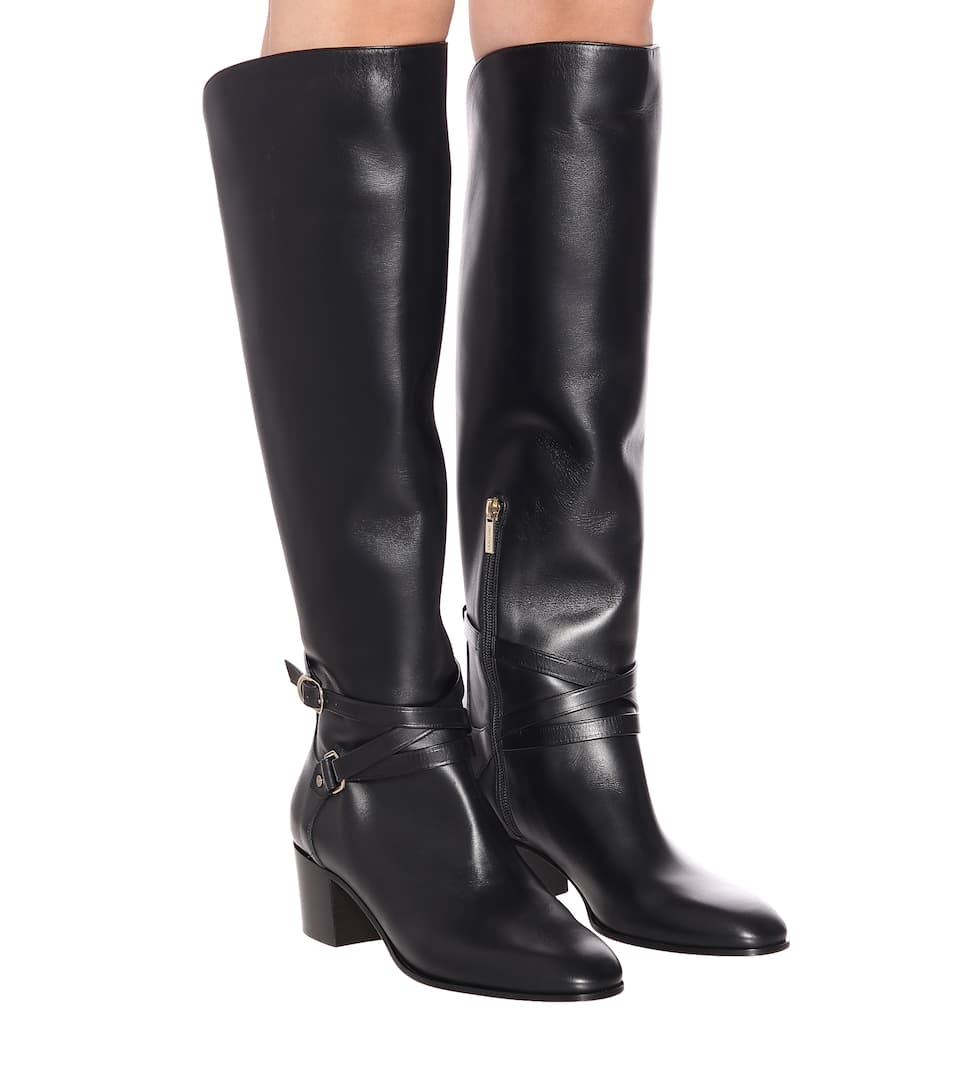Huxlie 45 Leather Knee-High Boots