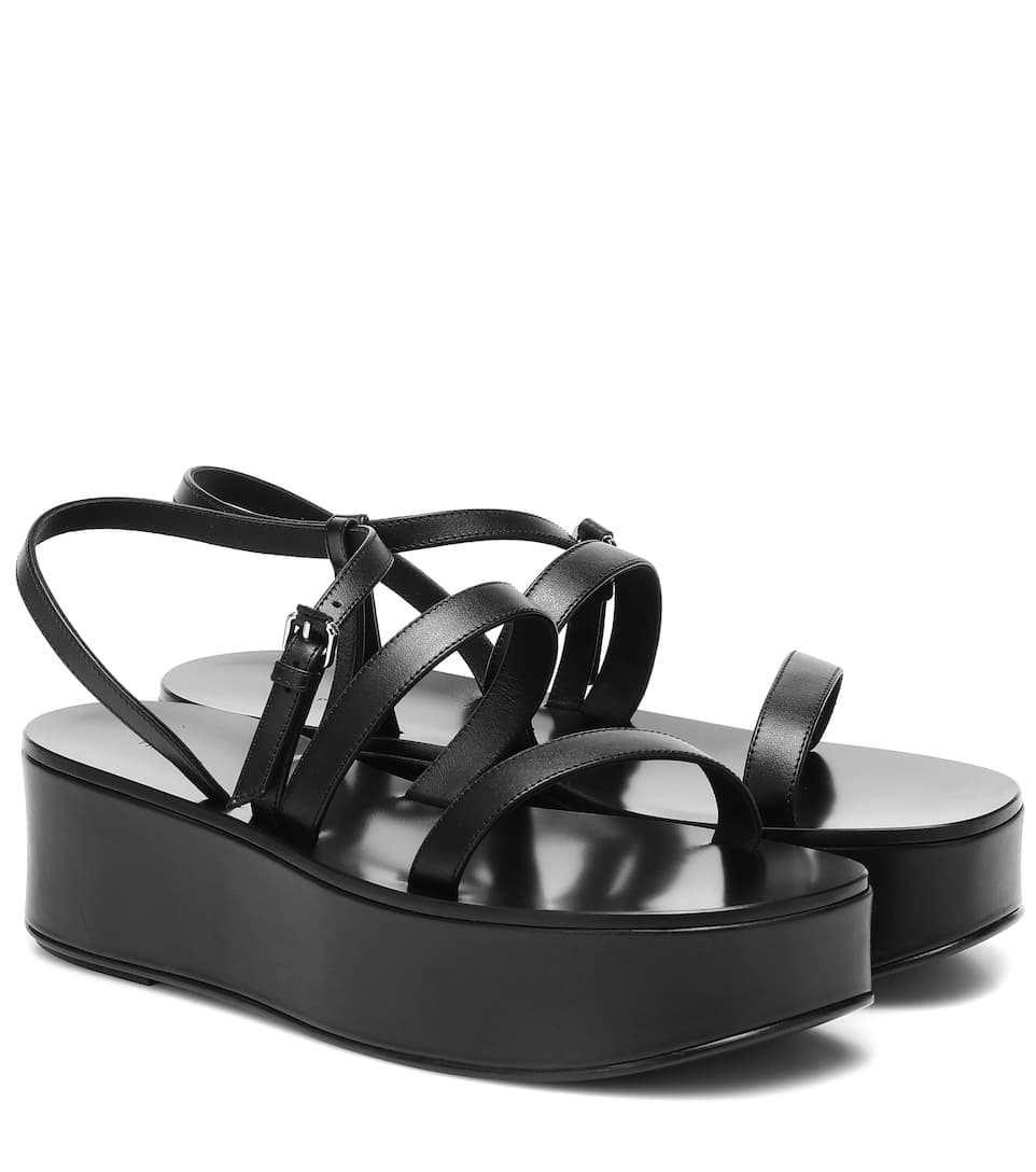 Platform Leather Sandals | The Row