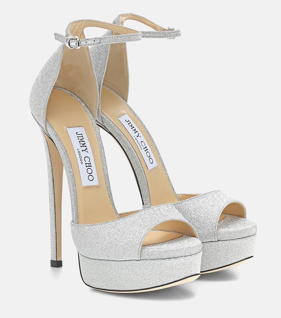 Max 150 Glitter Sandals - Jimmy Choo