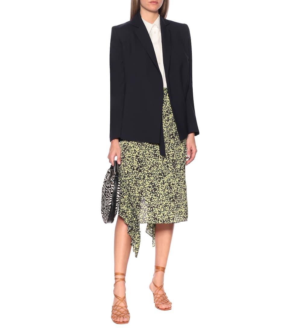 Rokh - Floral high-rise midi skirt