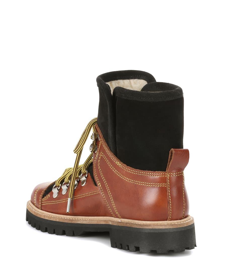 Ganni Ankle Boots aus Leder