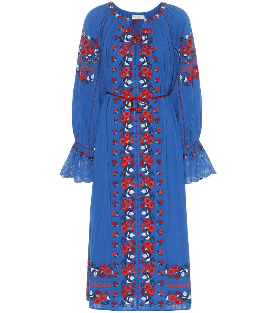 Robe En Coton Brodé Filia - Ulla Johnson