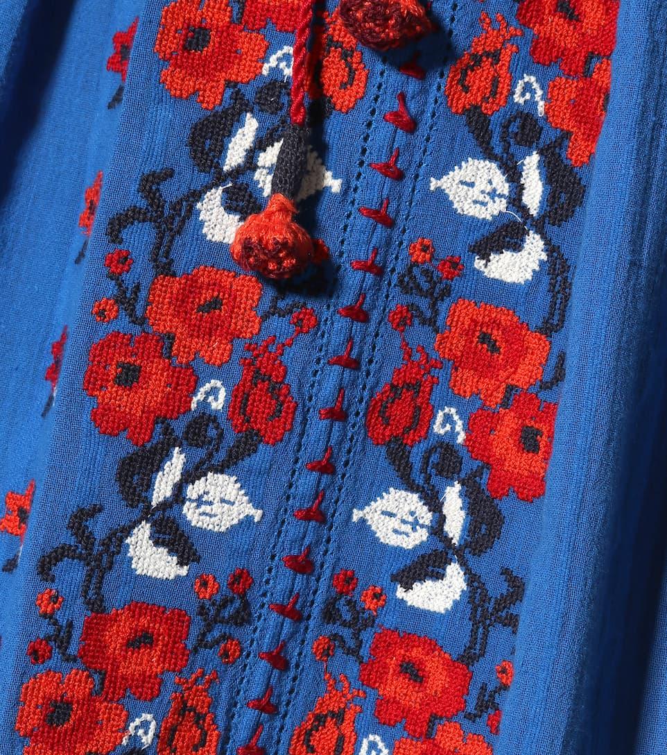 Ulla Johnson Besticktes Midikleid Filia aus Baumwolle