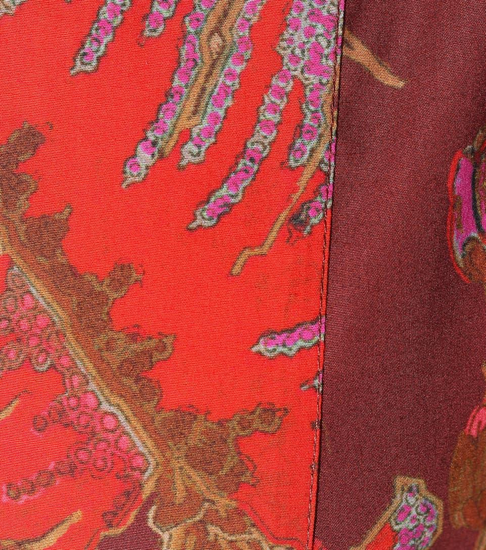 Etro Bedrucktes Minikleid aus Stretch-Baumwolle