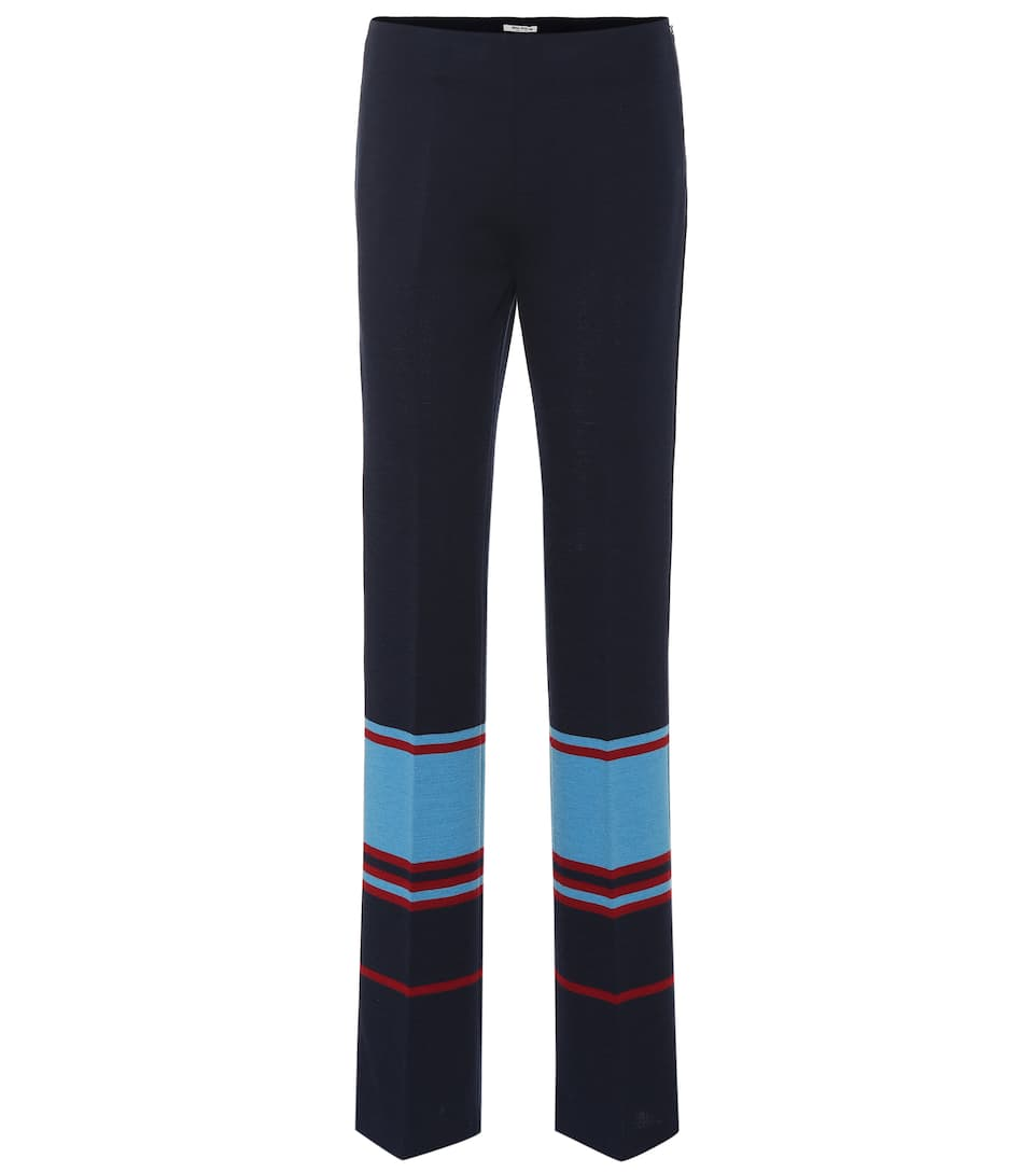 best service d3973 58e6f Pantaloni a righe in jersey di lana