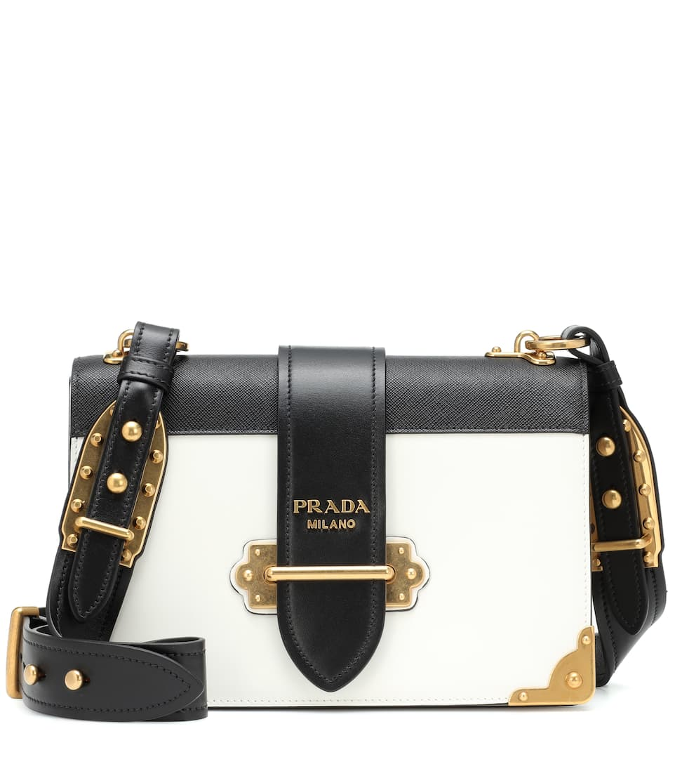 c97770ff996e Cahier Leather Shoulder Bag - Prada | mytheresa
