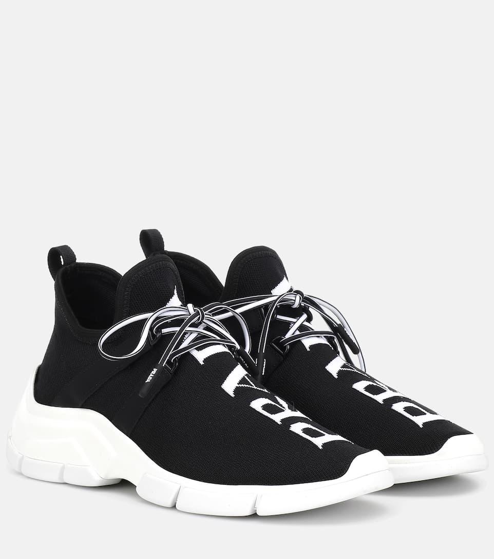 Zapatillas De Punto Elastizadas - Prada