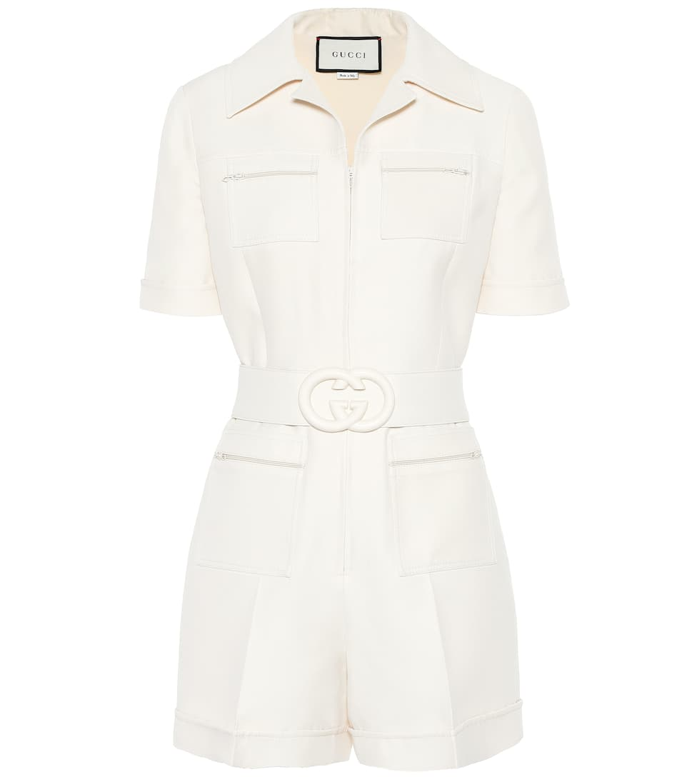 Cream Belted Playsuit