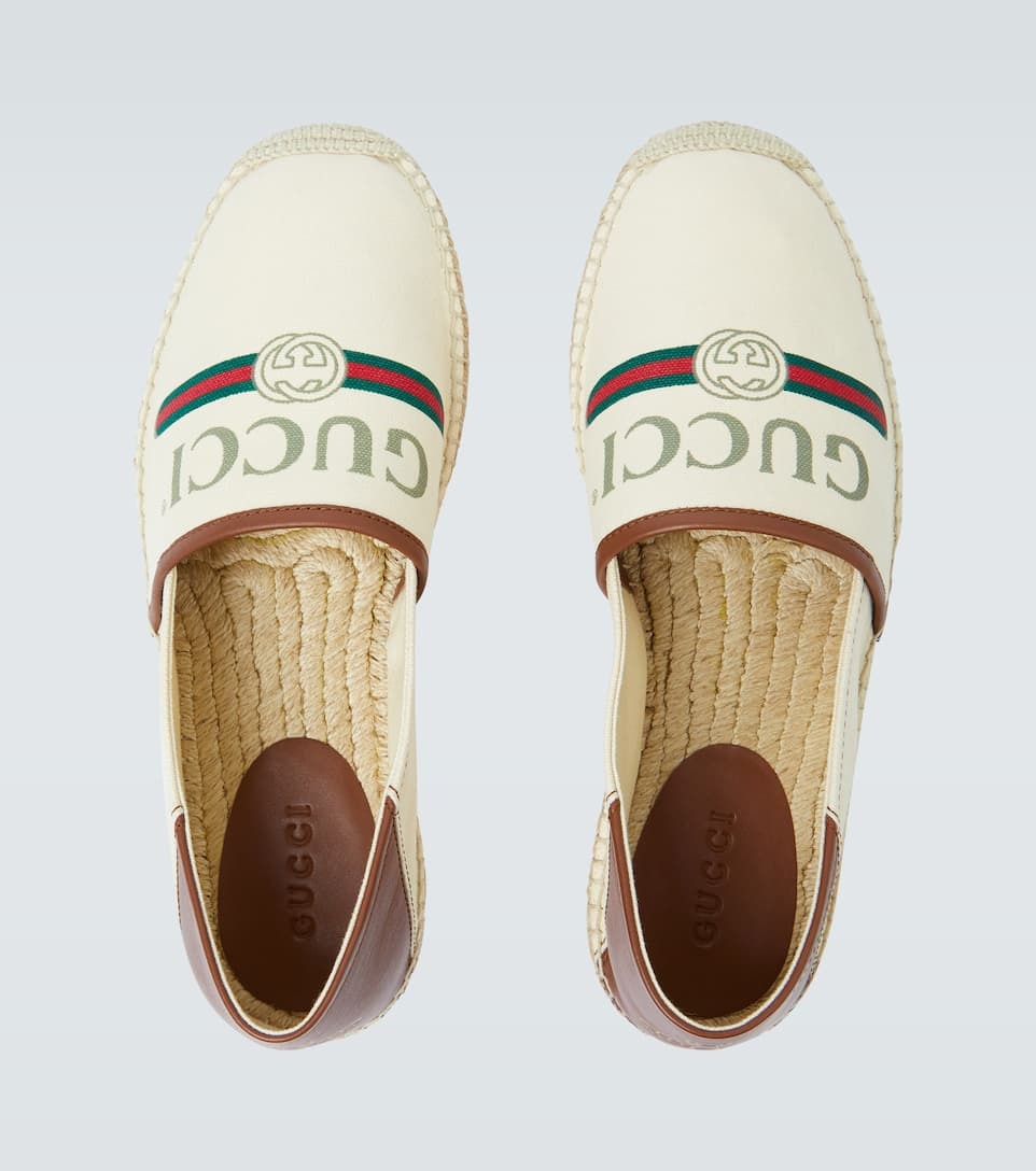 Canvas Espadrilles With Logo - Gucci