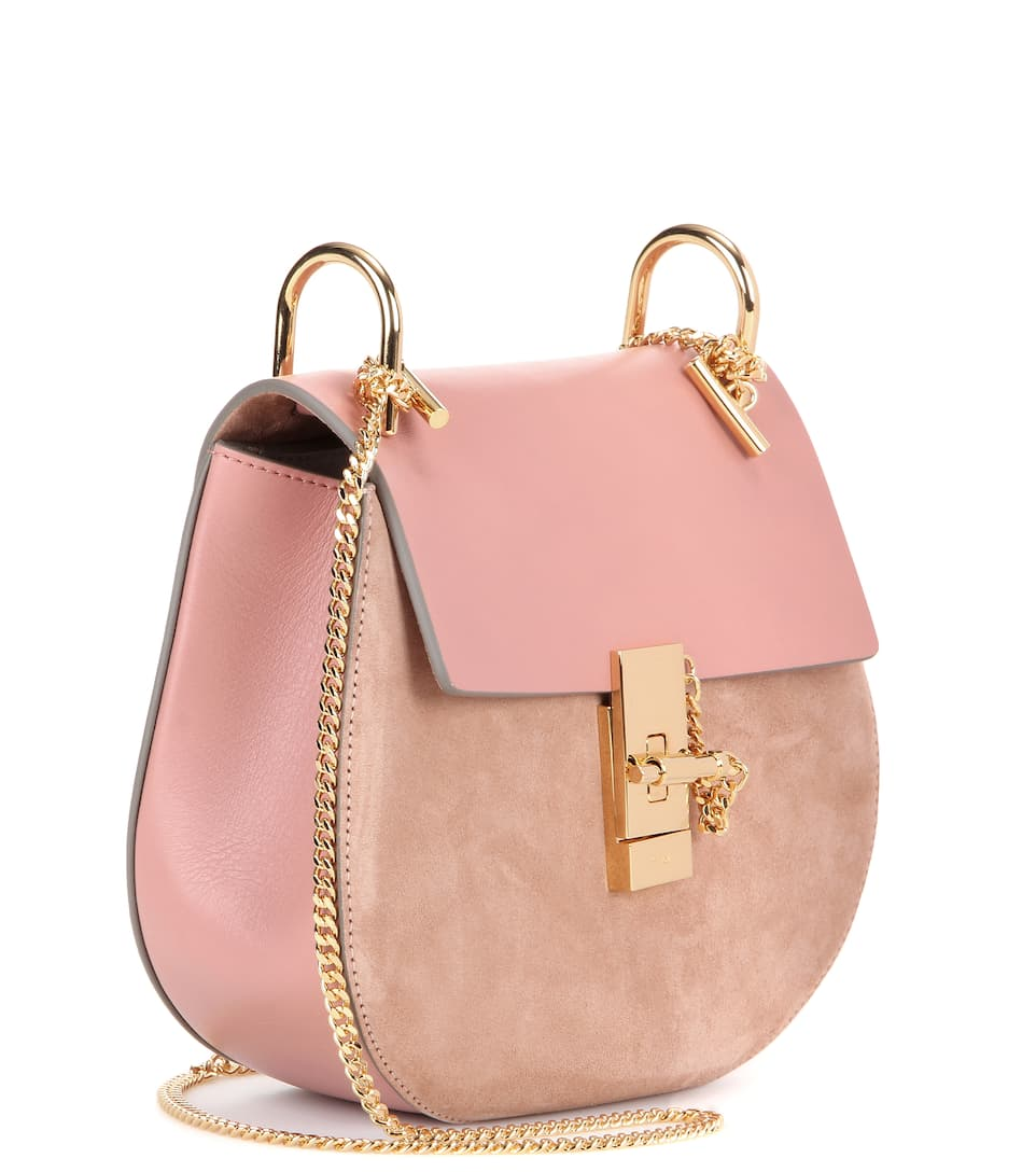 mytheresa.com - Drew leather and suede shoulder bag - Luxury ...