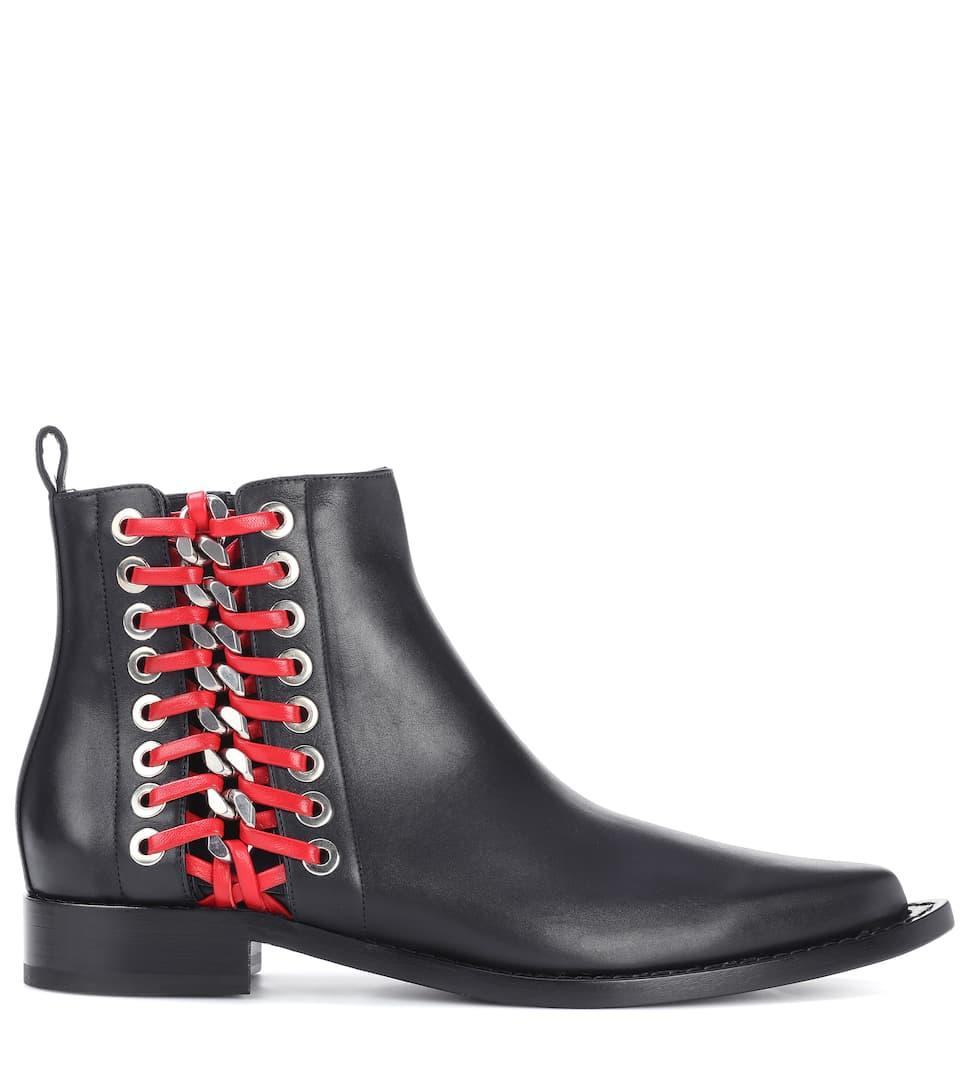 Günstig Kaufen Neue Große Diskont Verkauf Online Alexander McQueen Verzierte Ankle Boots aus Leder 2018 Neueste Online-Verkauf JDagRn