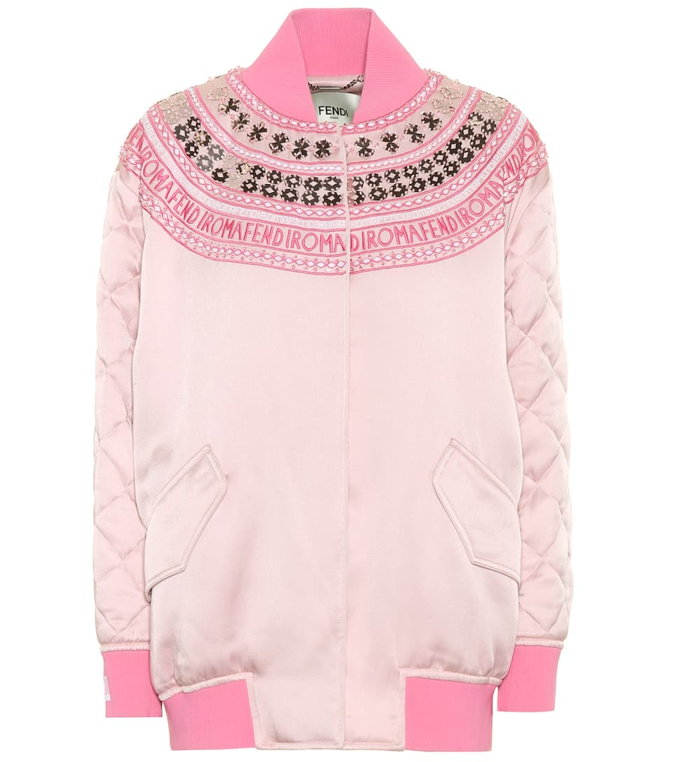 eaadc6eb6f6c Exclusive To Mytheresa.com – Embellished Satin Bomber Jacket - Fendi ...