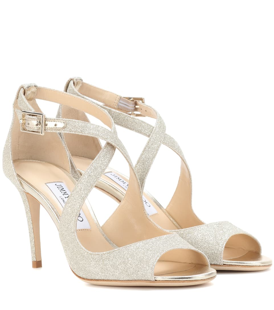 ChooMytheresa Sandals Jimmy 85 Emily Glitter qVzUGpSM