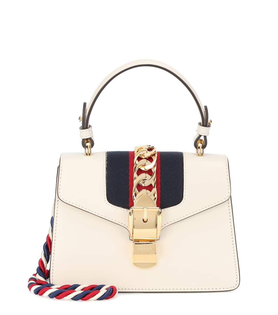 5aa0a24d5 Sylvie Mini Leather Crossbody Bag - Gucci | mytheresa