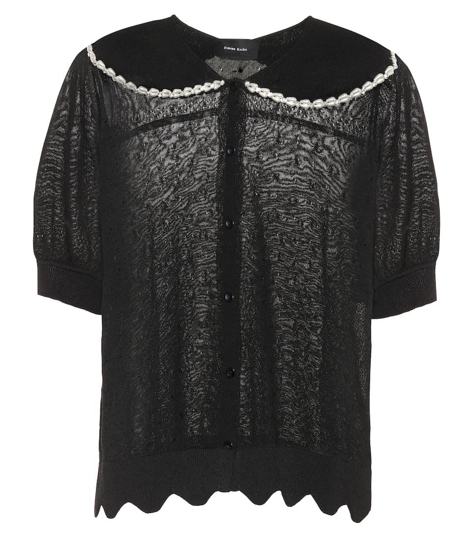 Simone Rocha Verzierter Pullover mit Wellenkanten
