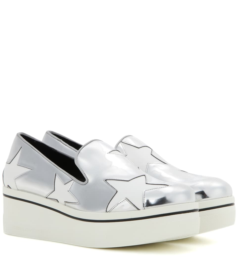 300a1f25cb3 Star Binx Metallic Platform Loafers   Stella McCartney - mytheresa.com