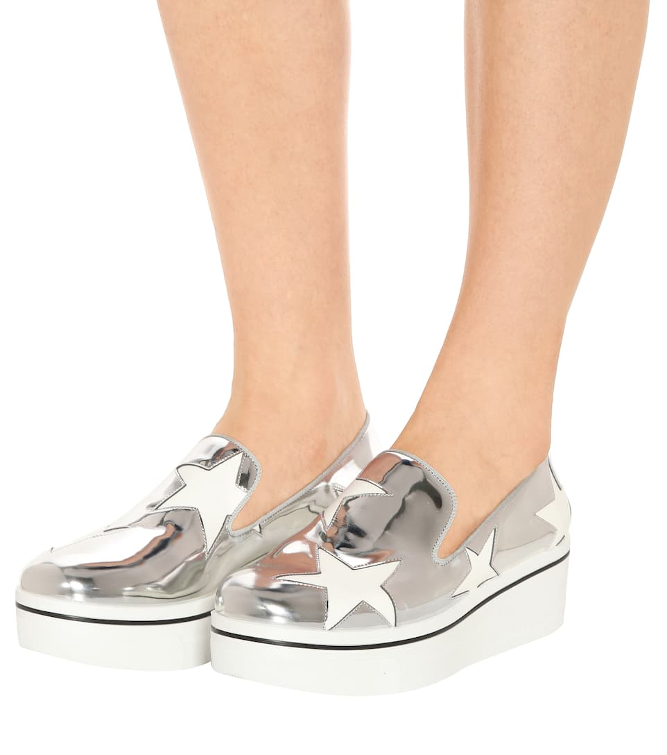 906207c994f Stella McCartney - Star Binx metallic platform loafers