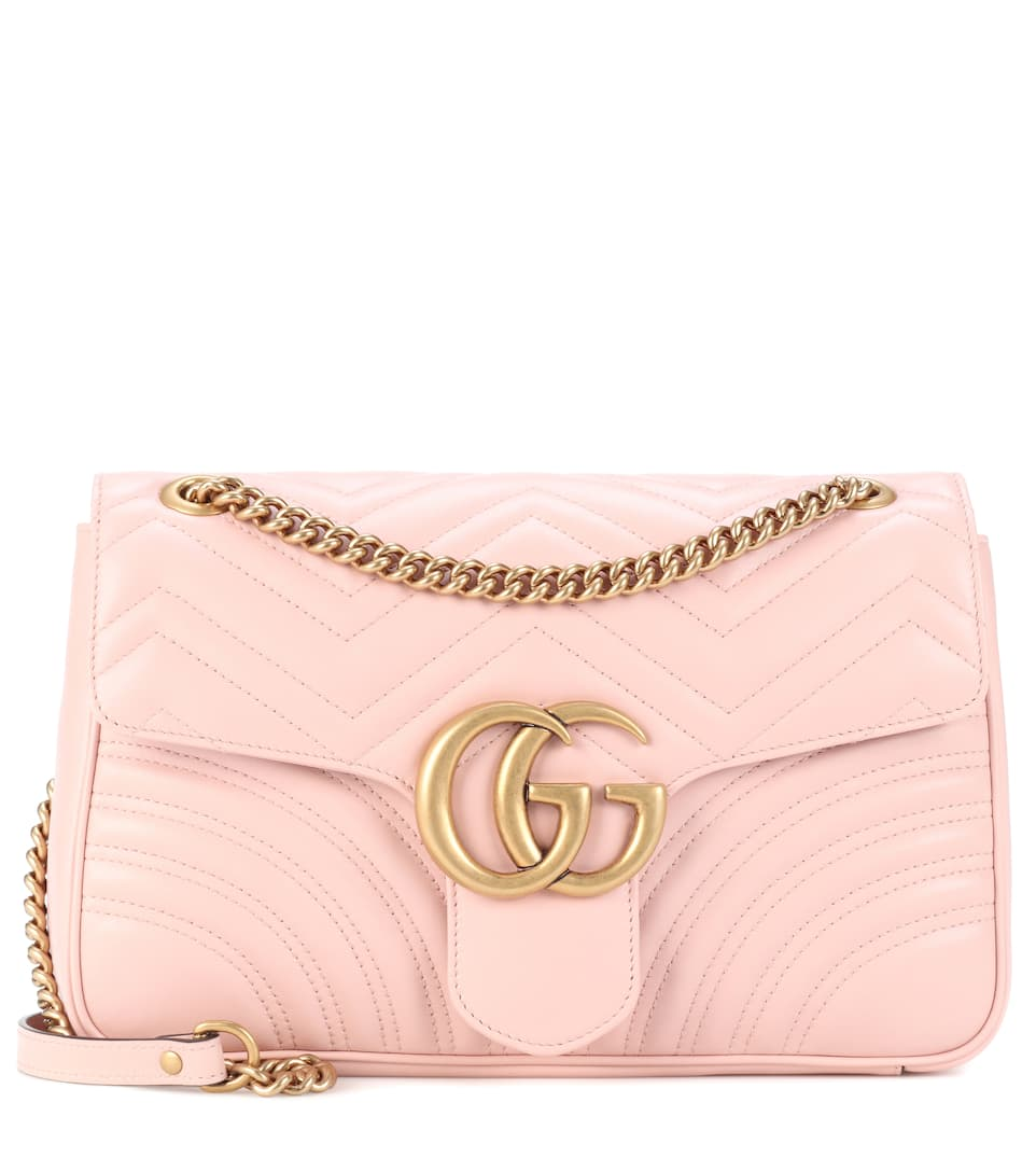 Sac Cross-Body En Cuir Matelassé Gg Marmont Medium - GnGlncYOc2