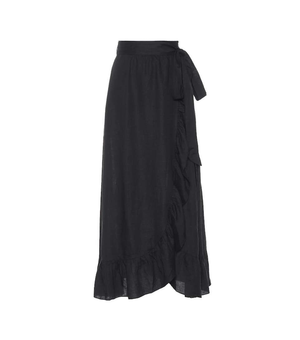 Alda Linen Wrap Skirt by Isabel Marant, Étoile