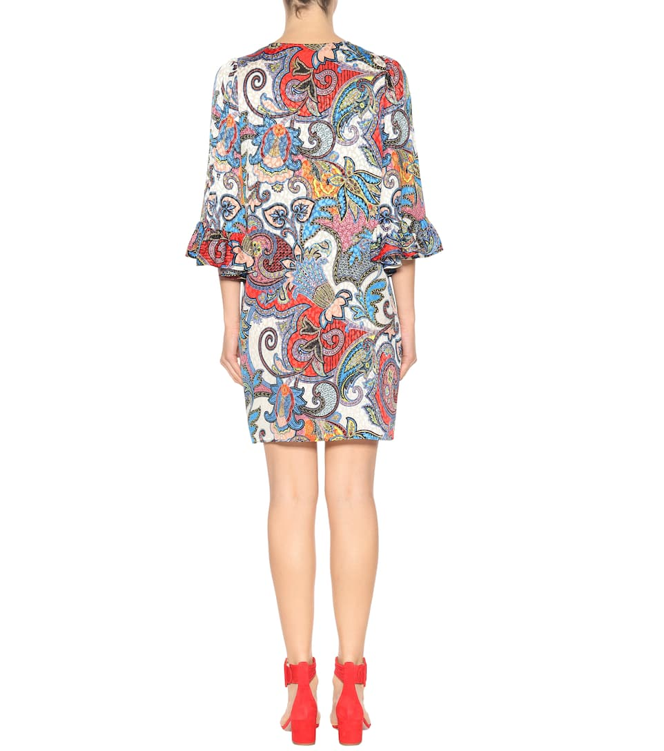 Etro Printed Dress In Silk