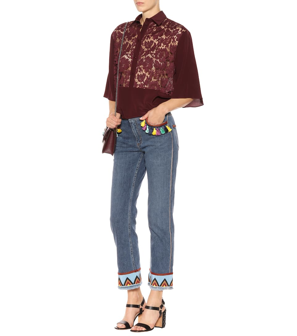 Valentino Silk Blouse With Lace