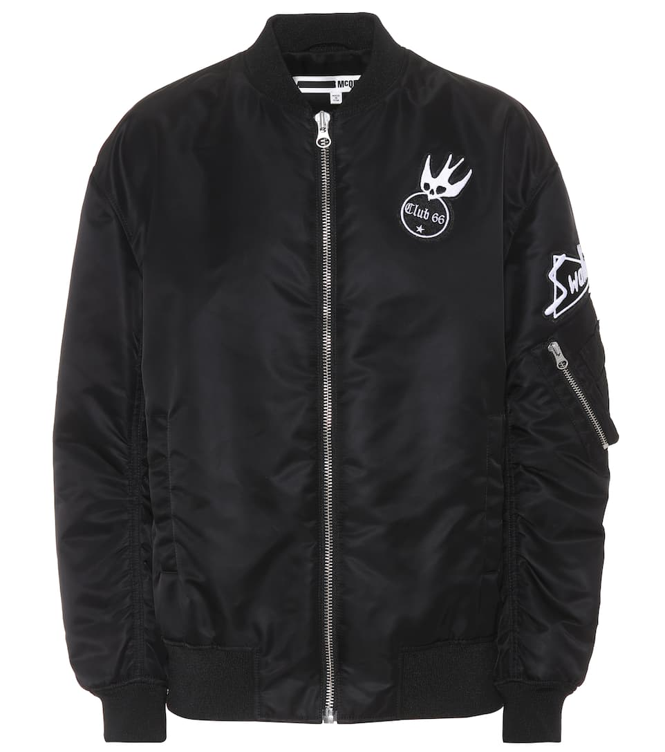 Mcq Alexander Mcqueen Patch Detail Bomber Jacket - Black