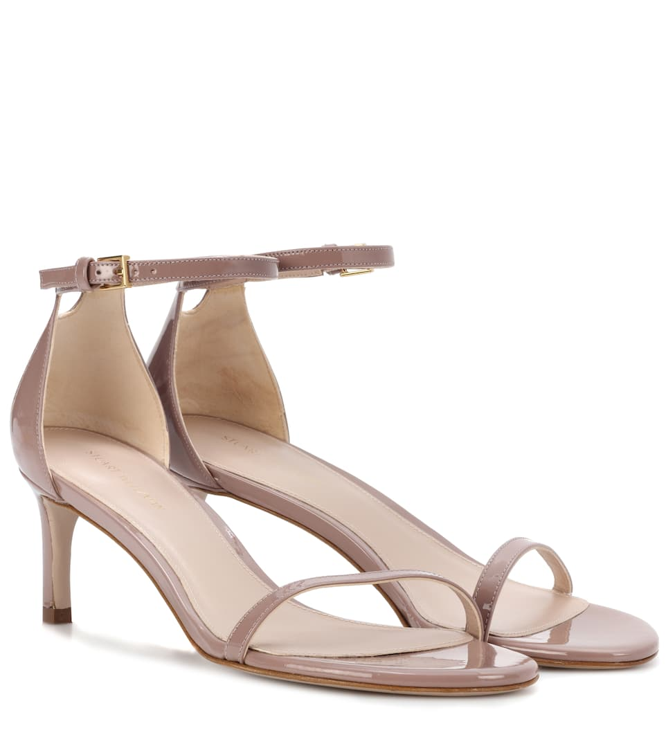 Nudistsong 45 Patent Leather Sandals by Stuart Weitzman
