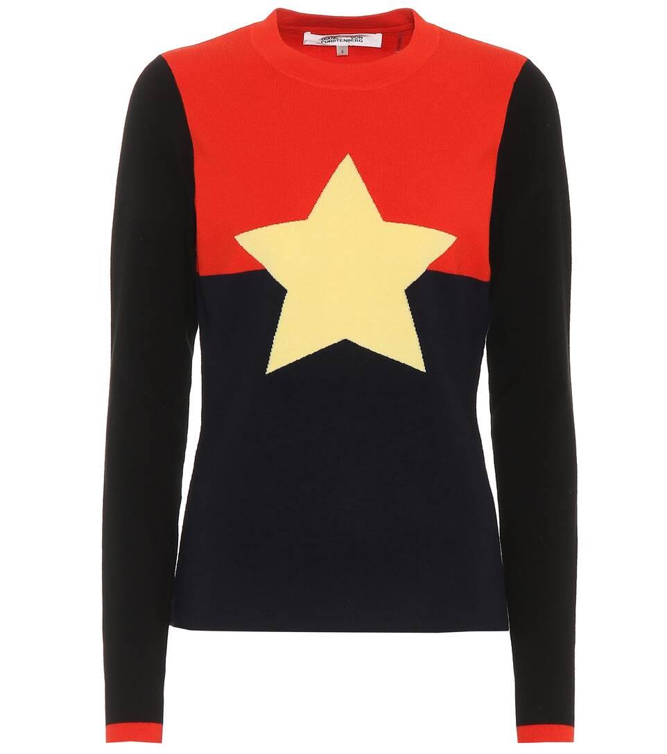 WOOL-BLEND STAR SWEATER