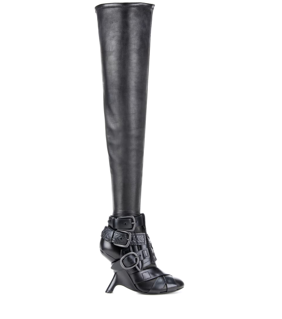 Tom Ford - Thigh-high Buckle boots | mytheresa.com
