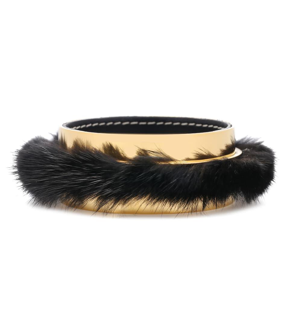 Marni Fur-trimmed bangle lmWP7pvIg