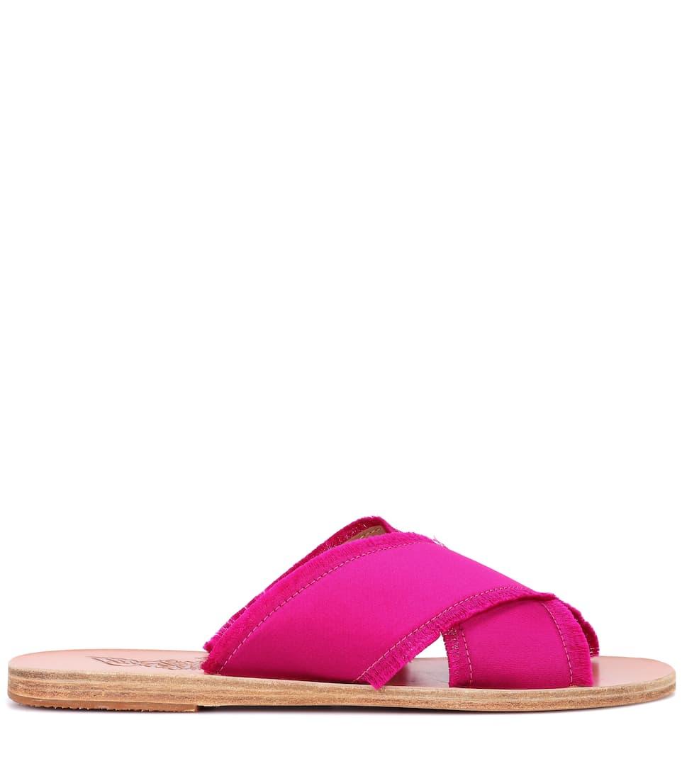 Mules En Satin Thais - Ancient Greek Sandals Acheter Votre Favori La Sortie Offres Vente Pas Cher De La France aQXLhOHa