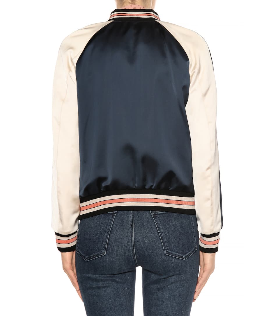 Coach Bomber Jacket Made Of Satin For Contact