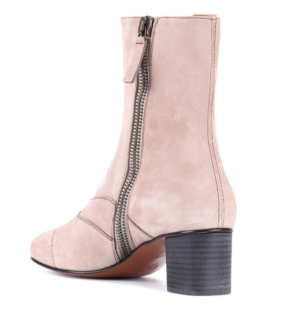 Chloé Ankle Boots Lexie aus Veloursleder