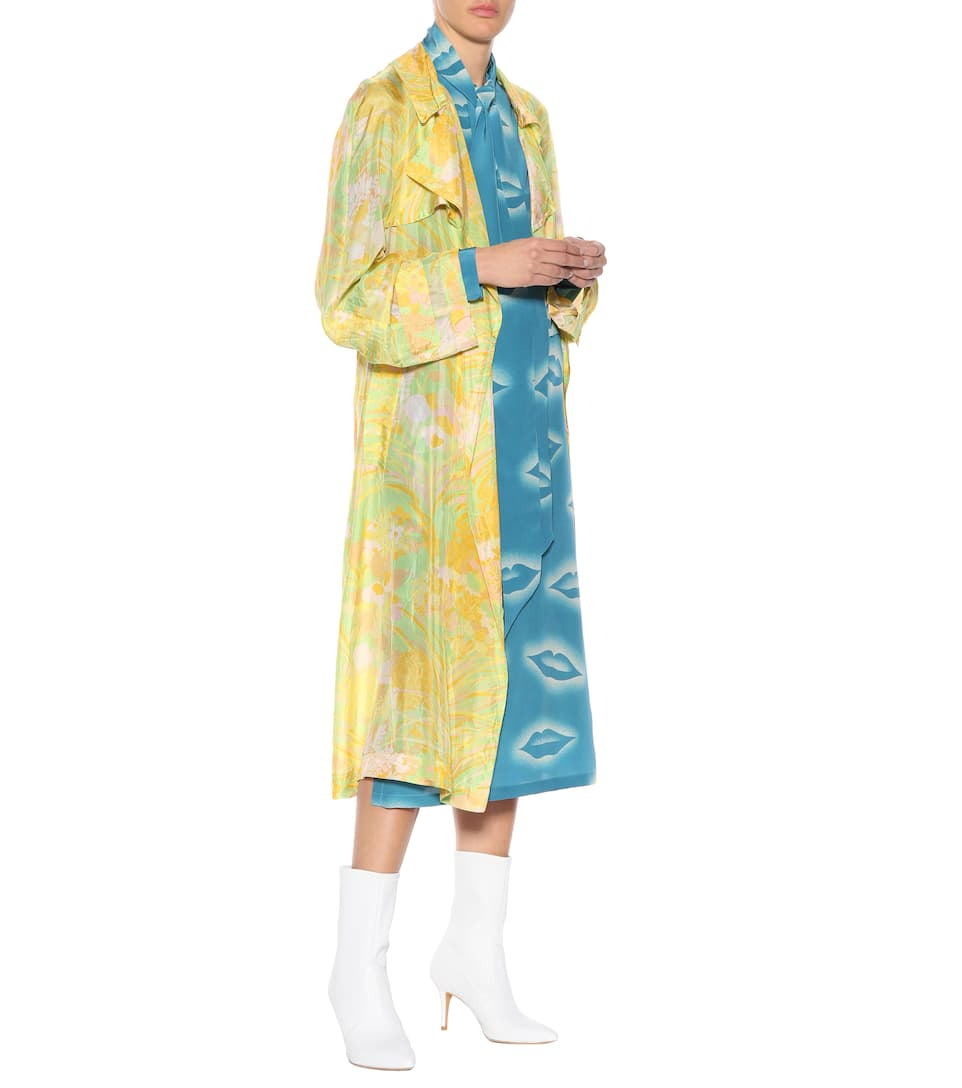 Jeu Best-seller Réduction En France Dries Van Noten - Robe en soie imprimée Vente Authentique Se 6nbfSN48kU