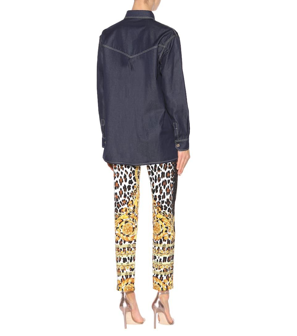 Versace Jeanshemd aus Baumwolle