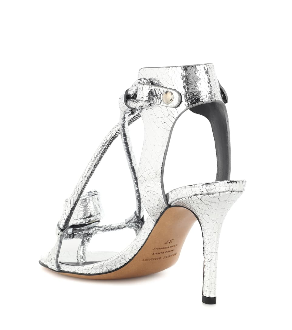 Ablee metallic leather sandals Isabel Marant Low Shipping Sale Online Brand New Unisex Cheap Price CBLcOC