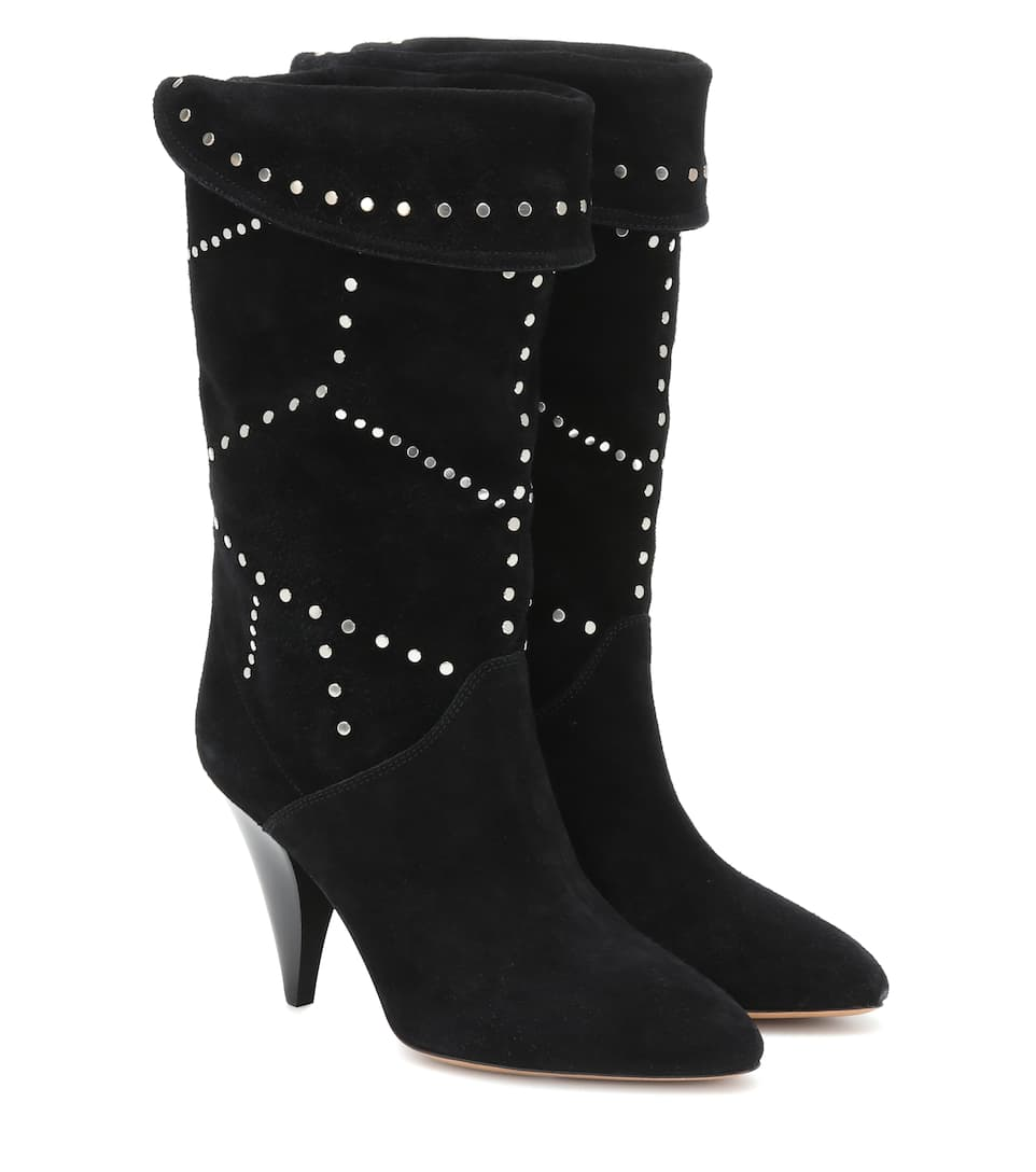 bde6080d366 Lestee Studded Suede Ankle Boots - Isabel Marant | mytheresa